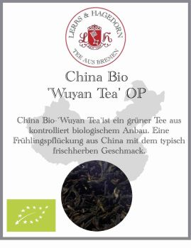 China Bio Tee 'Wuyan Tea' OP VE  1 kg