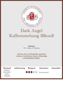 Dark Angel - Kaffeemischung (Blend)
