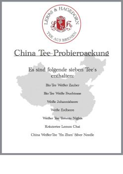 China Tee Probierpackung  7 Sorten    Set 1