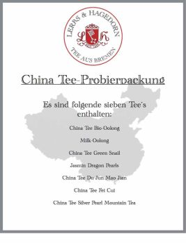 China Tee Probierpackung  7 Sorten    Set 2