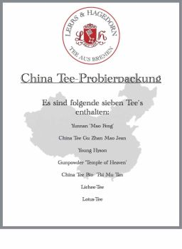China Tee Probierpackung  7 Sorten    Set 4