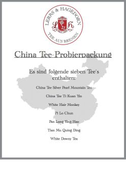China Tee Probierpackung  7 Sorten    Set 3