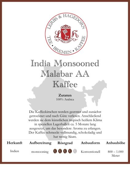 India Monsooned Malabar AA Kaffee
